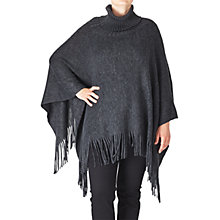 Buy ADIA Roll Neck Poncho, Grey Online at johnlewis.com