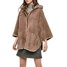 Buy Gerard Darel Grenade Sheepskin Cape, Camel Online at johnlewis.com
