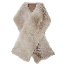 Buy White Stuff Celtic Sheepskin Leather Stole, Natural Online at johnlewis.com