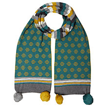 Buy White Stuff Molly Scarf, Green Online at johnlewis.com