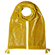 Buy White Stuff Scatter Spot Velvet Scarf, Yellow Online at johnlewis.com