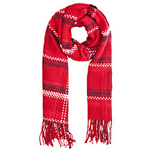 Buy Oasis Preppy Check Scarf, Red/Monochrome Online at johnlewis.com