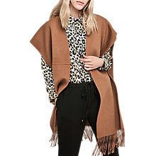 Buy Gerard Darel Wool Cape, Camel Online at johnlewis.com