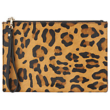 Buy Whistles Velvet Wristlet Clutch Bag, Leopard Print Online at johnlewis.com