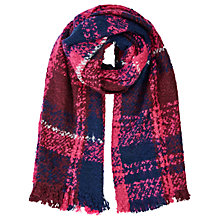 Buy Oasis Boucle Check Scarf, Pink/Multi Online at johnlewis.com