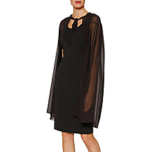 Buy Gina Bacconi Amber Chiffon Cape Dress, Black Online at johnlewis.com