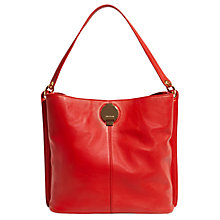 Buy Karen Millen Slouchy Leather Shoulder Bag, Red Online at johnlewis.com