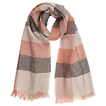 Buy Oasis Pretty Lurex Check Scarf, Pink Neapolitan Online at johnlewis.com