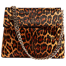 Buy Karen Millen Regent  Leather Shoulder Bag, Leopard Print Online at johnlewis.com