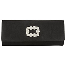 Buy Adrianna Papell Rhinestone Embellished Flapover Roll Clutch Bag, Black Online at johnlewis.com