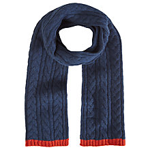 Buy White Stuff Ralph Cable Knit Scarf Online at johnlewis.com