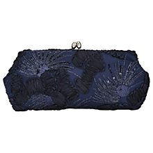 Buy Adrianna Papell Embroidered Clutch Bag, Navy Online at johnlewis.com