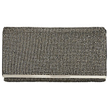 Buy Adrianna Papell Stone Bead Embellished Flapover Clutch Bag, Gunmetal Online at johnlewis.com