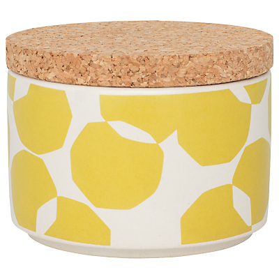 John Lewis Scandi Spot Kitchen Storage Jar, 200ml, Yellow