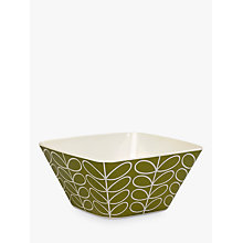 Buy Orla Kiely Linear Stem Bamboo Salad Bowl, Dia.24.6cm, Seagrass Online at johnlewis.com