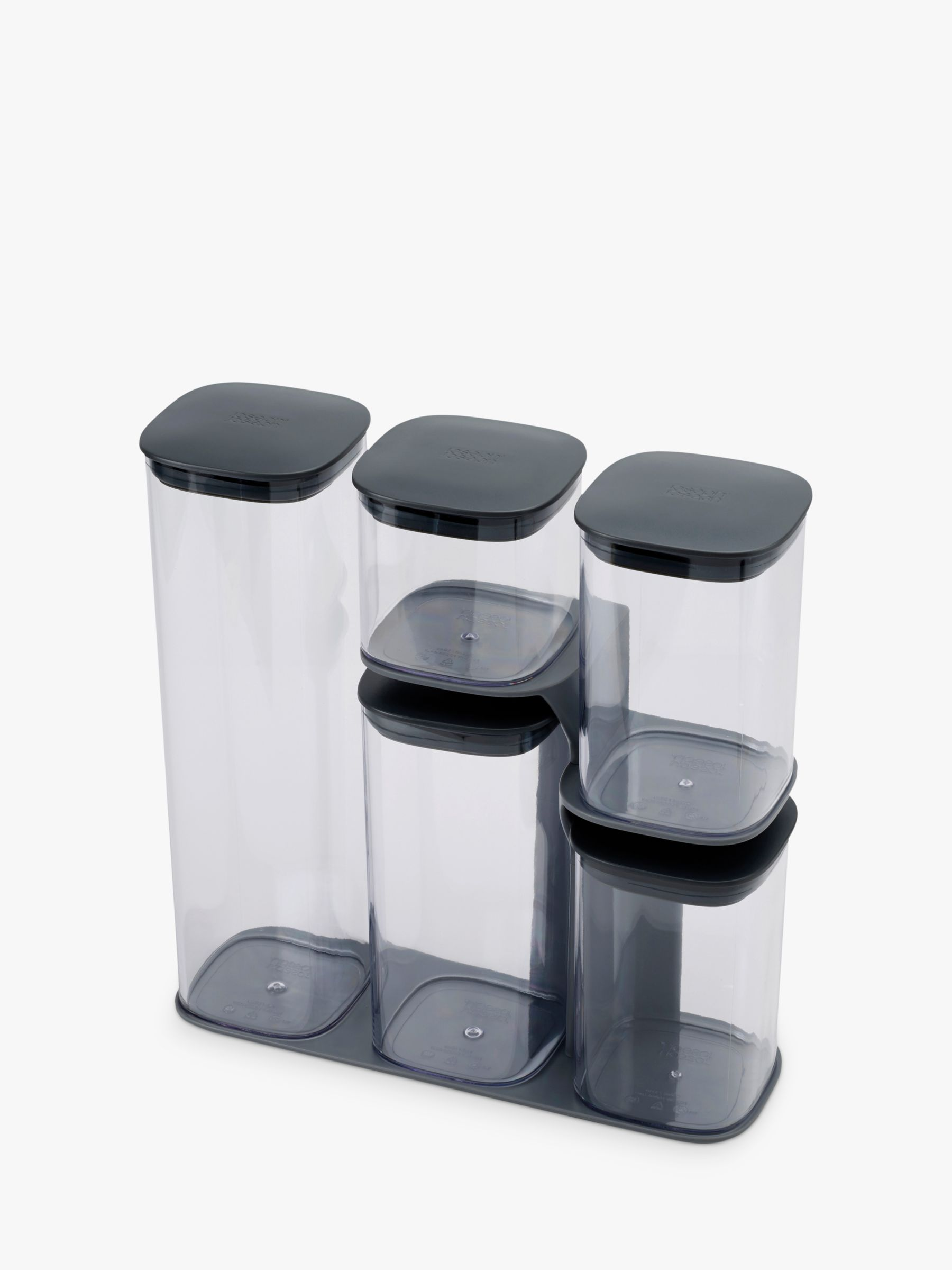 Joseph Joseph Joseph Joseph Podium Storage Container Set and Stand, 5 Pieces