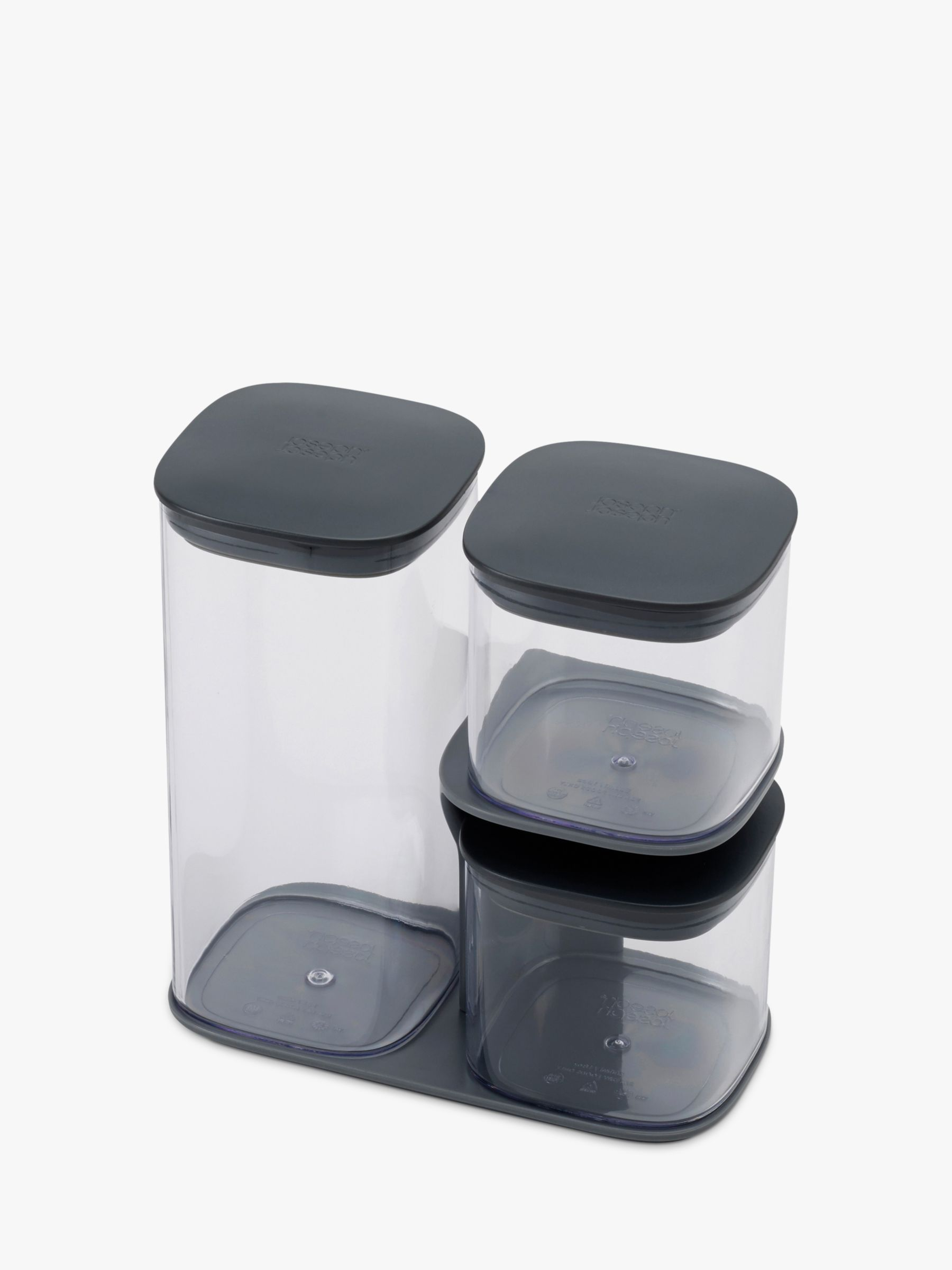 Joseph Joseph Joseph Joseph Podium Storage Container Set and Stand, 3 Pieces