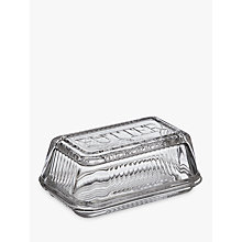 Buy Croft Collection Glass Butter Dish, Clear Online at johnlewis.com