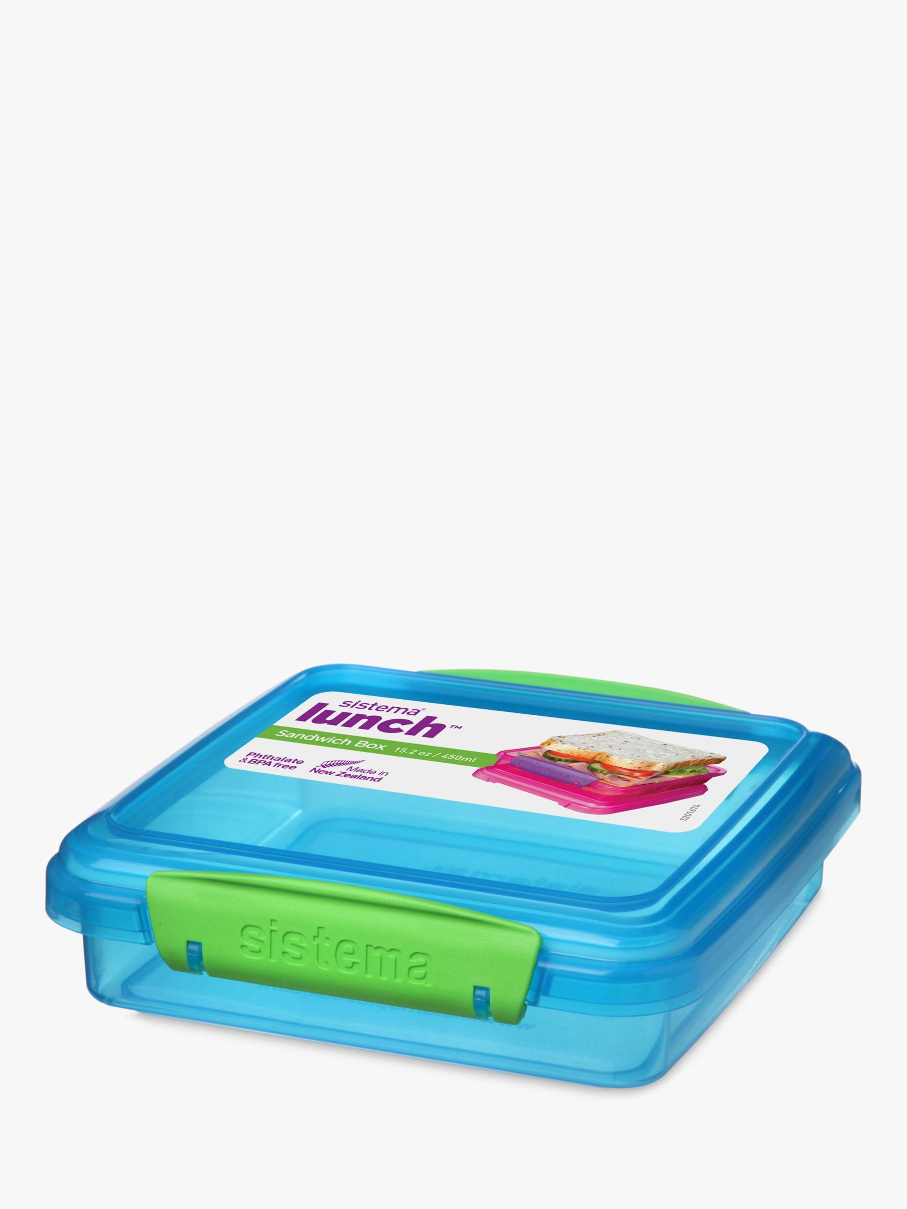 Sistema Sistema Lunch Sandwich Box , 450ml, Assorted