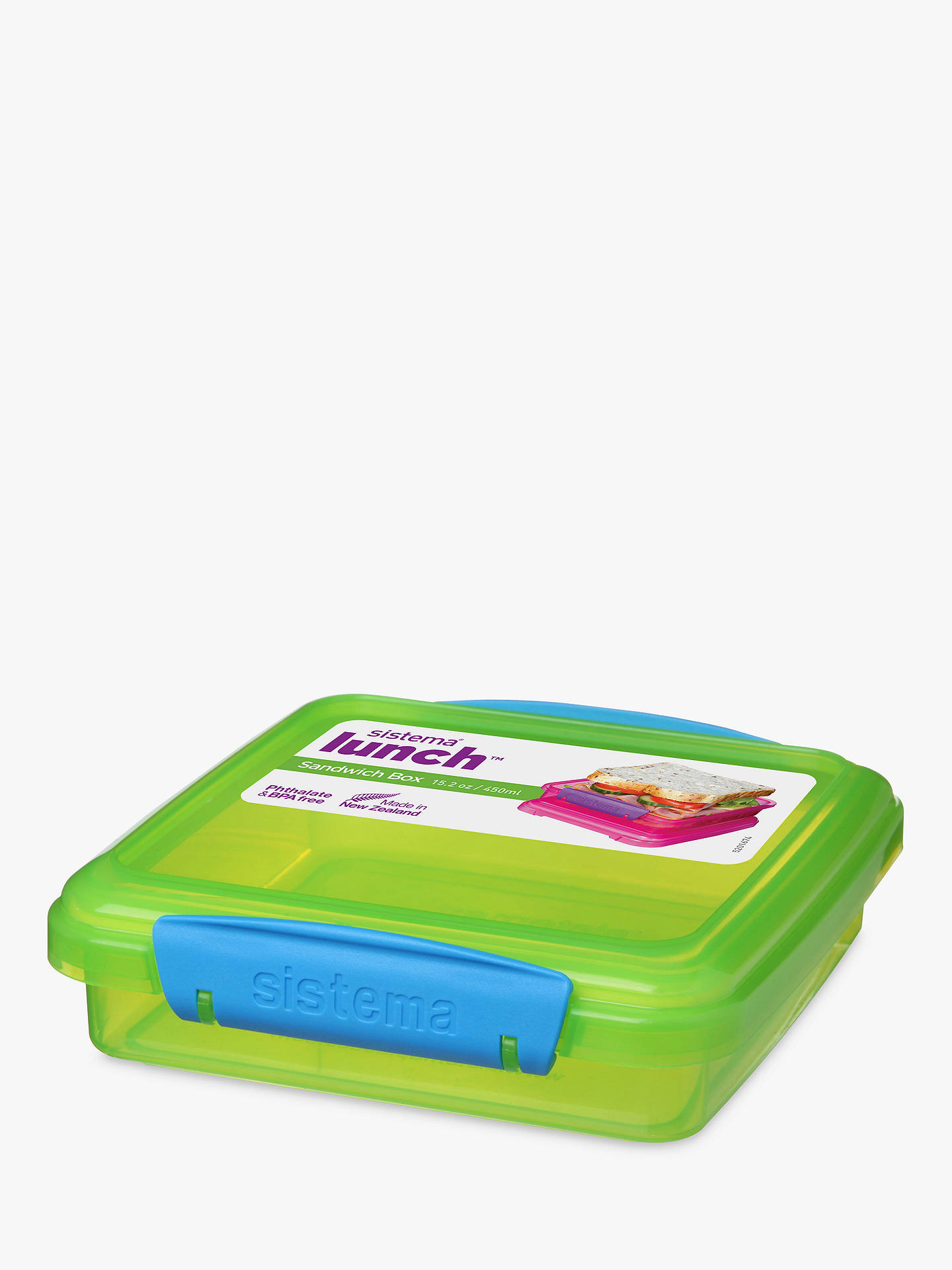 BuySistema Lunch Sandwich Box , 450ml, Assorted Online at johnlewis.com