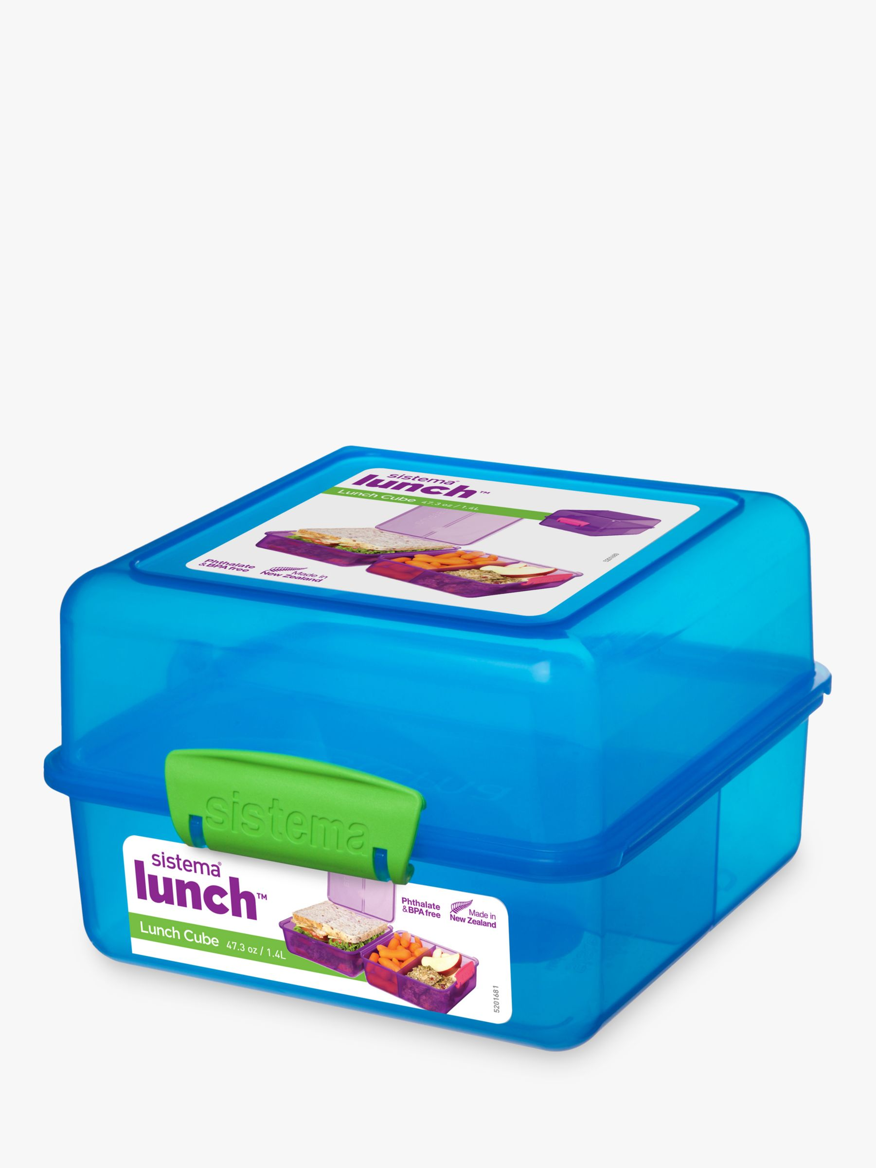 Sistema Sistema Lunch Box Cube, 1.4L, Assorted
