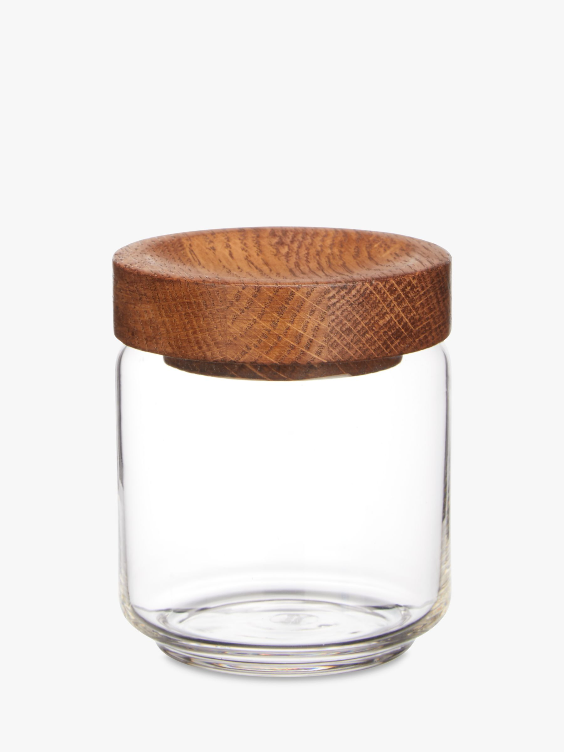 Gl Jar With Oak Wood Lid