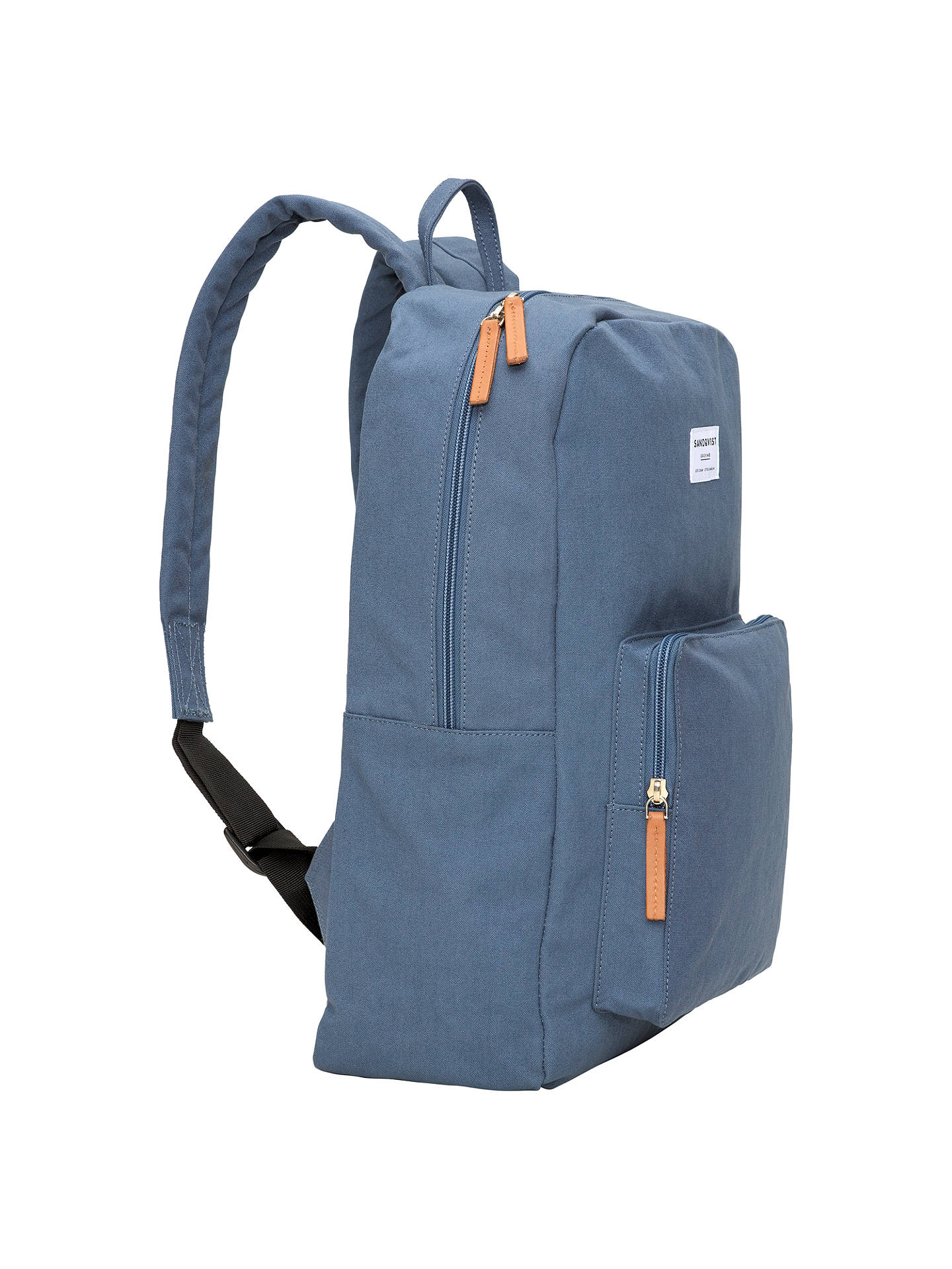 BuySandqvist Kim Ground Backpack, Dusty Blue Online at johnlewis.com