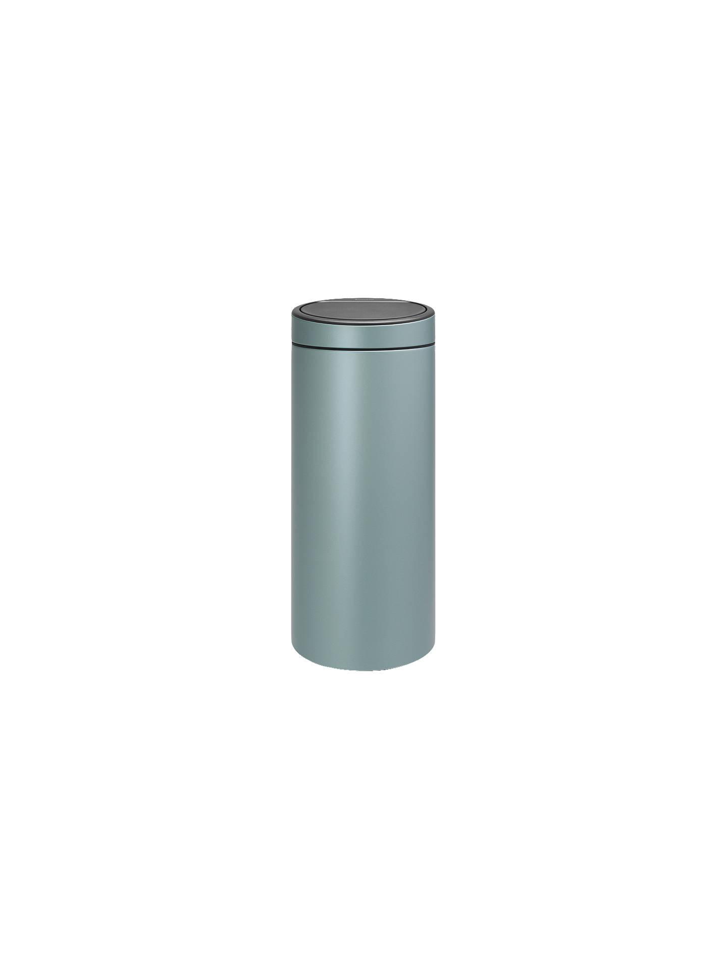 Brabantia Touch Bin 30 L Flat Top.Brabantia Touch Bin 30l Metallic Mint