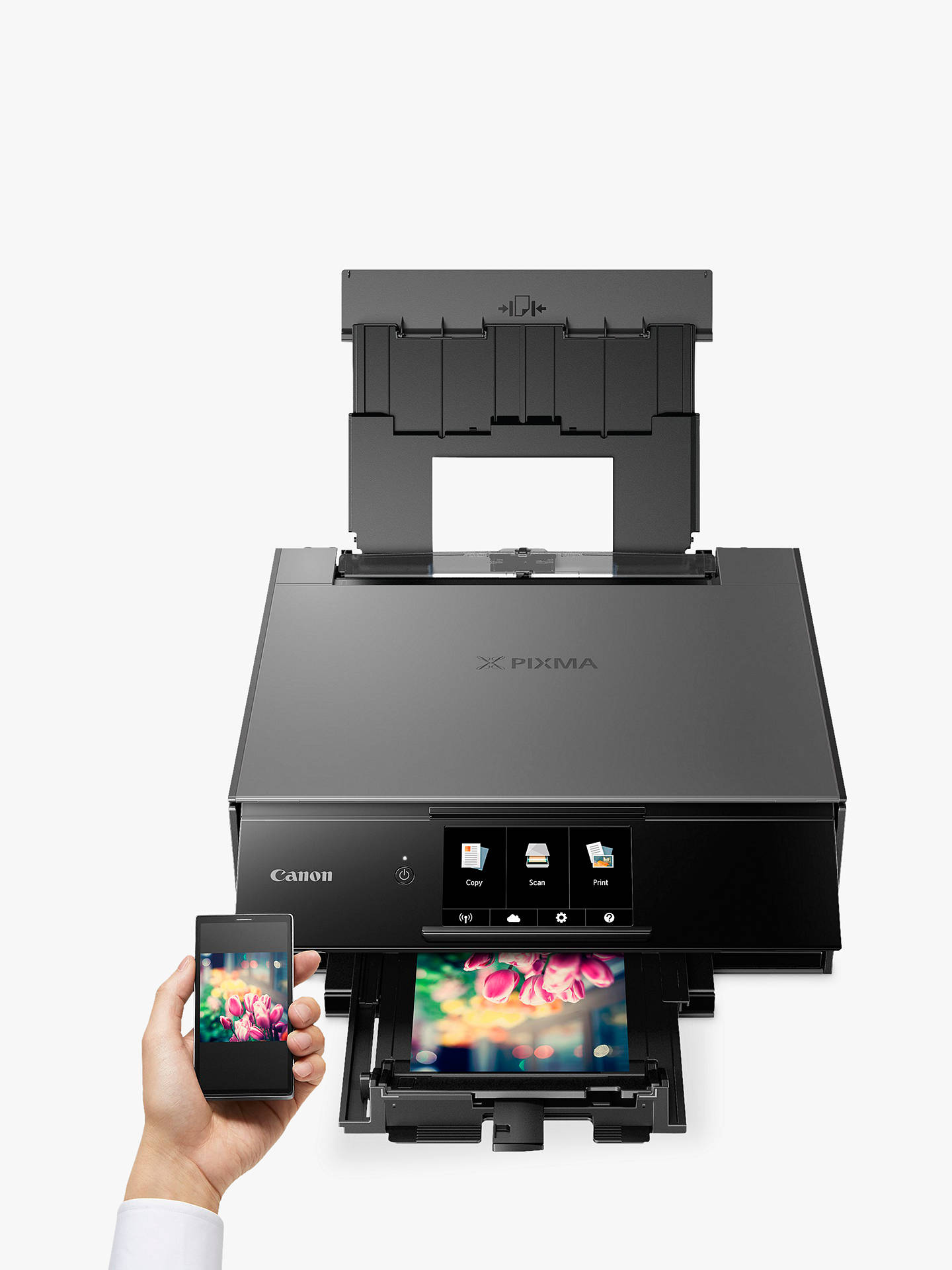 BuyCanon PIXMA TS9150 All-in-One Wireless Wi-Fi Printer with Auto-Tilting Touch Screen, Dark Grey Online at johnlewis.com