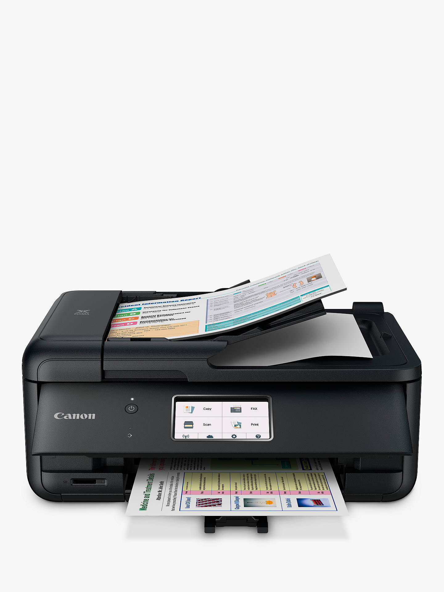 Buy Canon PIXMA TR8550 All-in-One Wireless Wi-Fi Printer with Touch Screen, Black Online at johnlewis.com