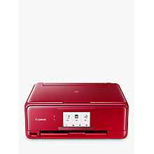 Buy Canon PIXMA TS8152 All-in-One Wireless Wi-Fi Printer with Auto-Tilting Touch Screen, Red Online at johnlewis.com