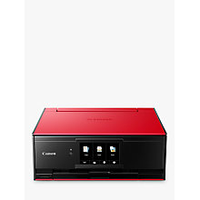 Buy Canon PIXMA TS9155 All-in-One Wireless Wi-Fi Printer with Auto-Tilting Touch Screen, Red Online at johnlewis.com