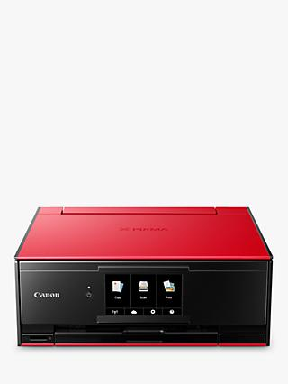 Canon PIXMA TS9155 All-in-One Wireless Wi-Fi Printer with Auto-Tilting Touch Screen, Red