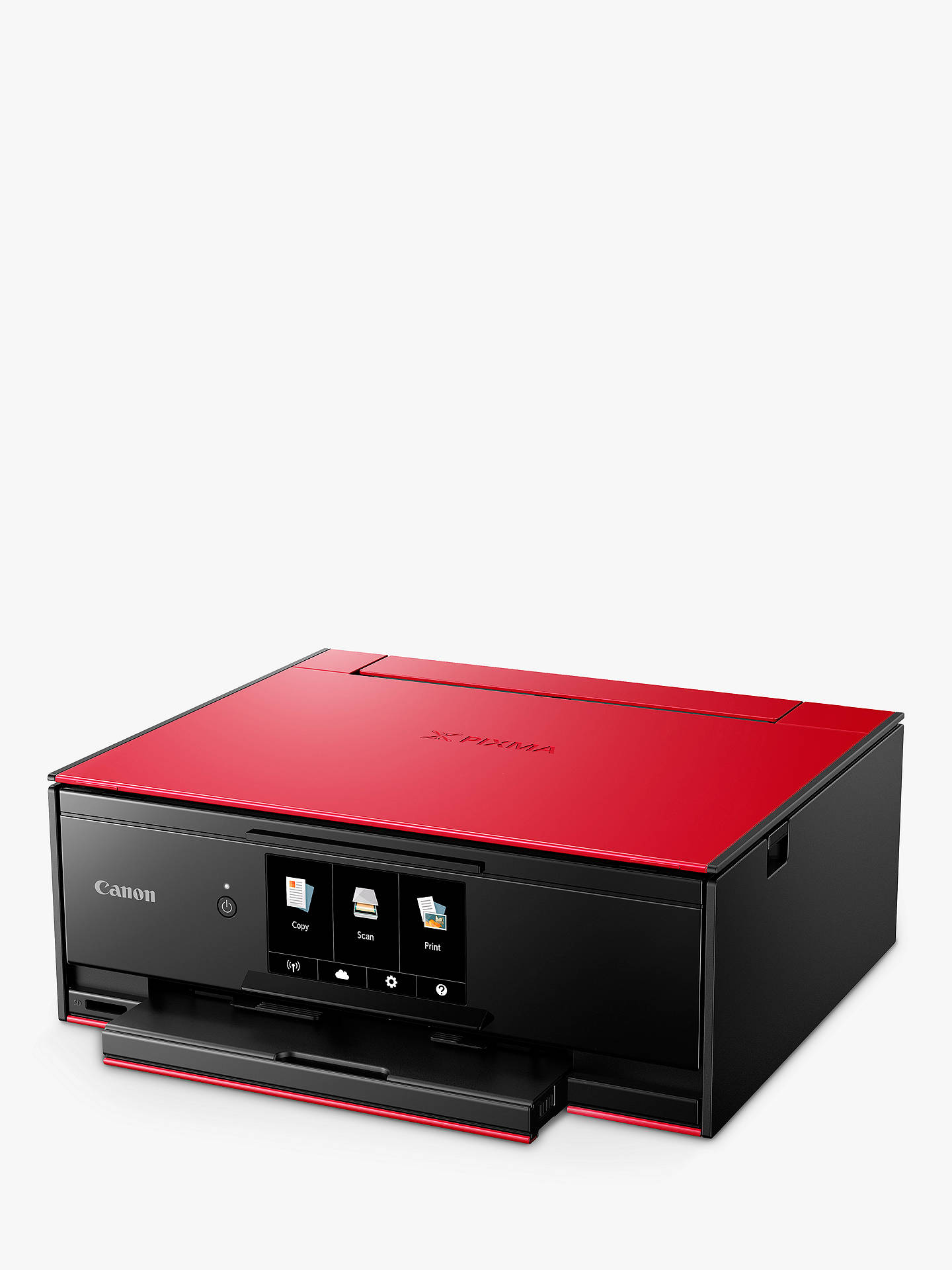 BuyCanon PIXMA TS9155 All-in-One Wireless Wi-Fi Printer with Auto-Tilting Touch Screen, Red Online at johnlewis.com