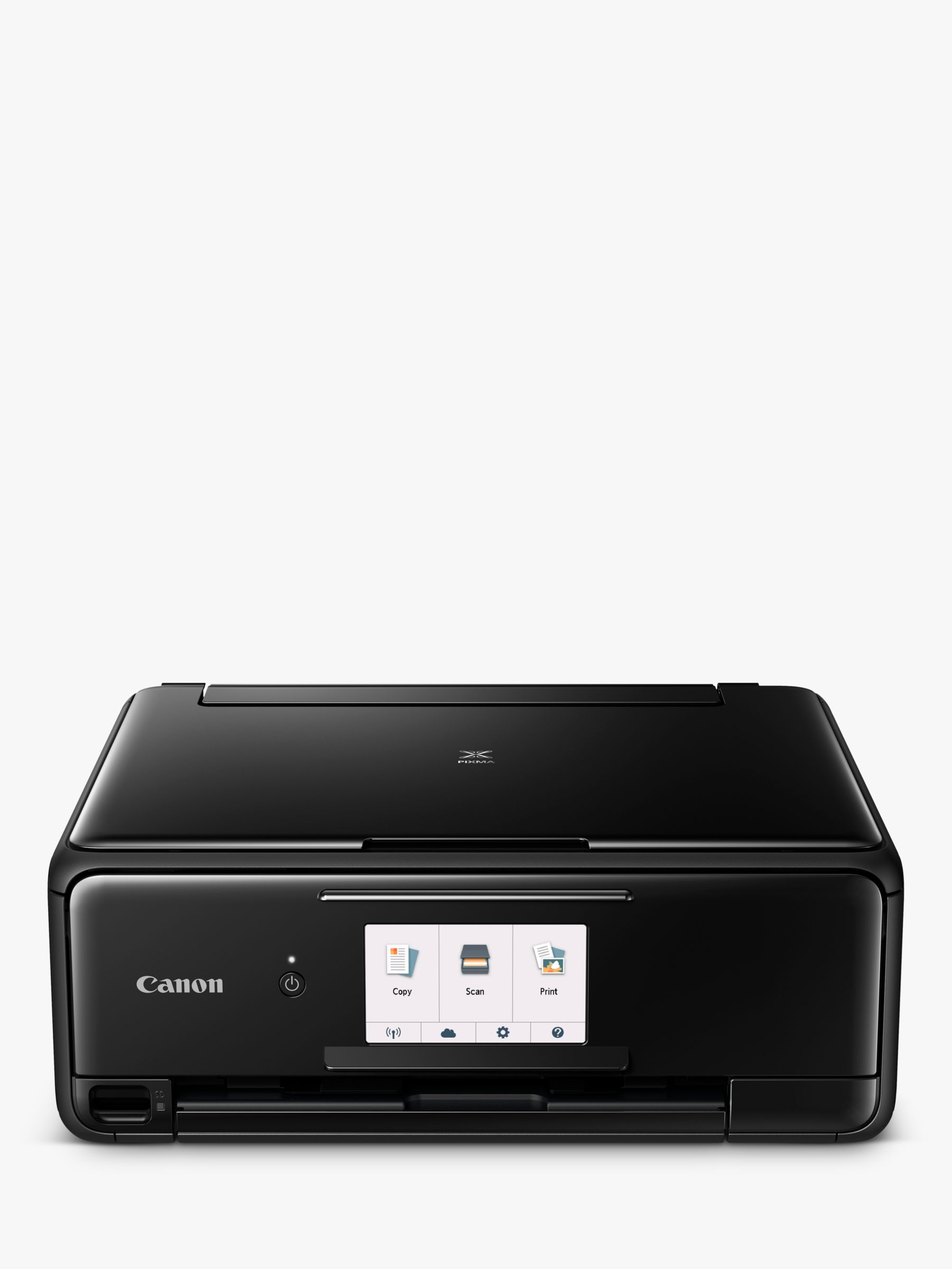 Canon PIXMA TS8150 All-in-One Wireless Wi-Fi Printer with Auto-Tilting  Touch Screen, Black