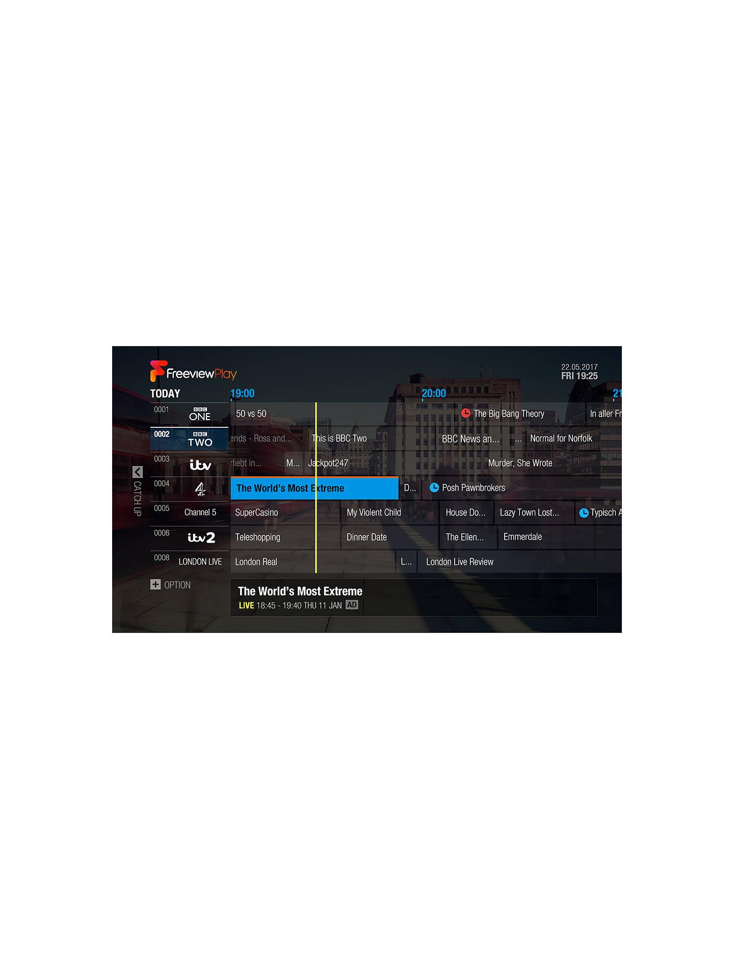 Humax FVP-5000T 1TB Smart Freeview Play HD TV Recorder, Black
