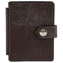 Buy Reiss Cashin Textured Leather Card Holder, Black Online at johnlewis.com