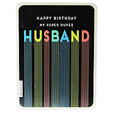 Buy Art File Super Duper Husband Birthday Card Online at johnlewis.com