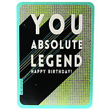 Buy Art File Absolute Legend Birthday Card Online at johnlewis.com