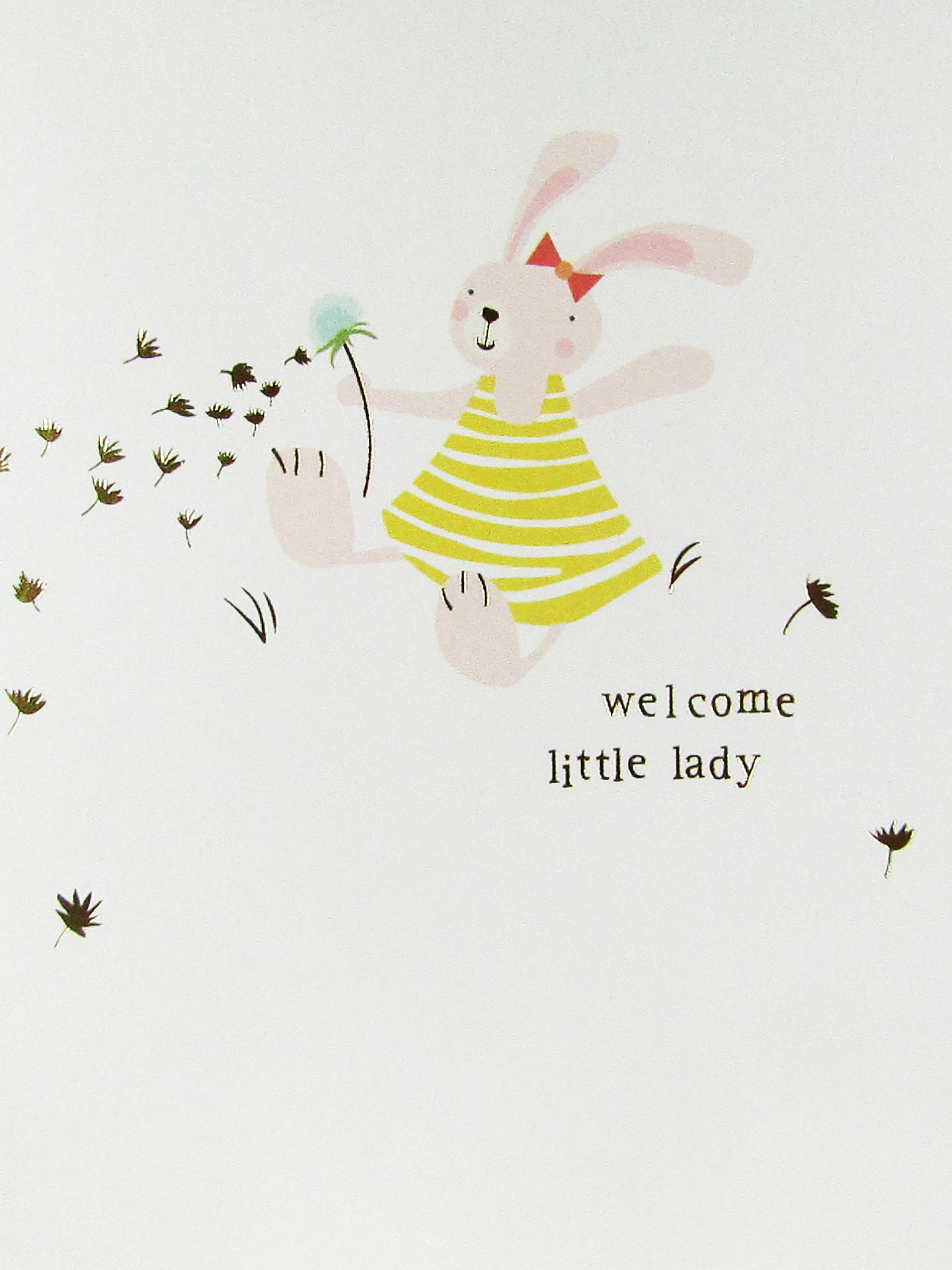 BuyCaroline Gardner Welcome Little Lady Baby Girl Card Online at johnlewis.com