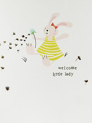Caroline Gardner Welcome Little Lady Baby Girl Card