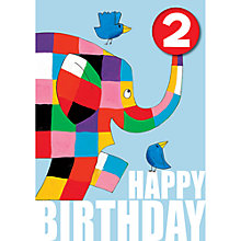 Buy Hype Elmer Badge 2nd Birthday Card Online at johnlewis.com