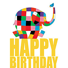 Buy Hype Elmer Birthday Card Online at johnlewis.com