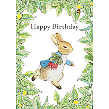 Buy Beatrix Potter Peter Rabbit Happy Birthday Card Online at johnlewis.com