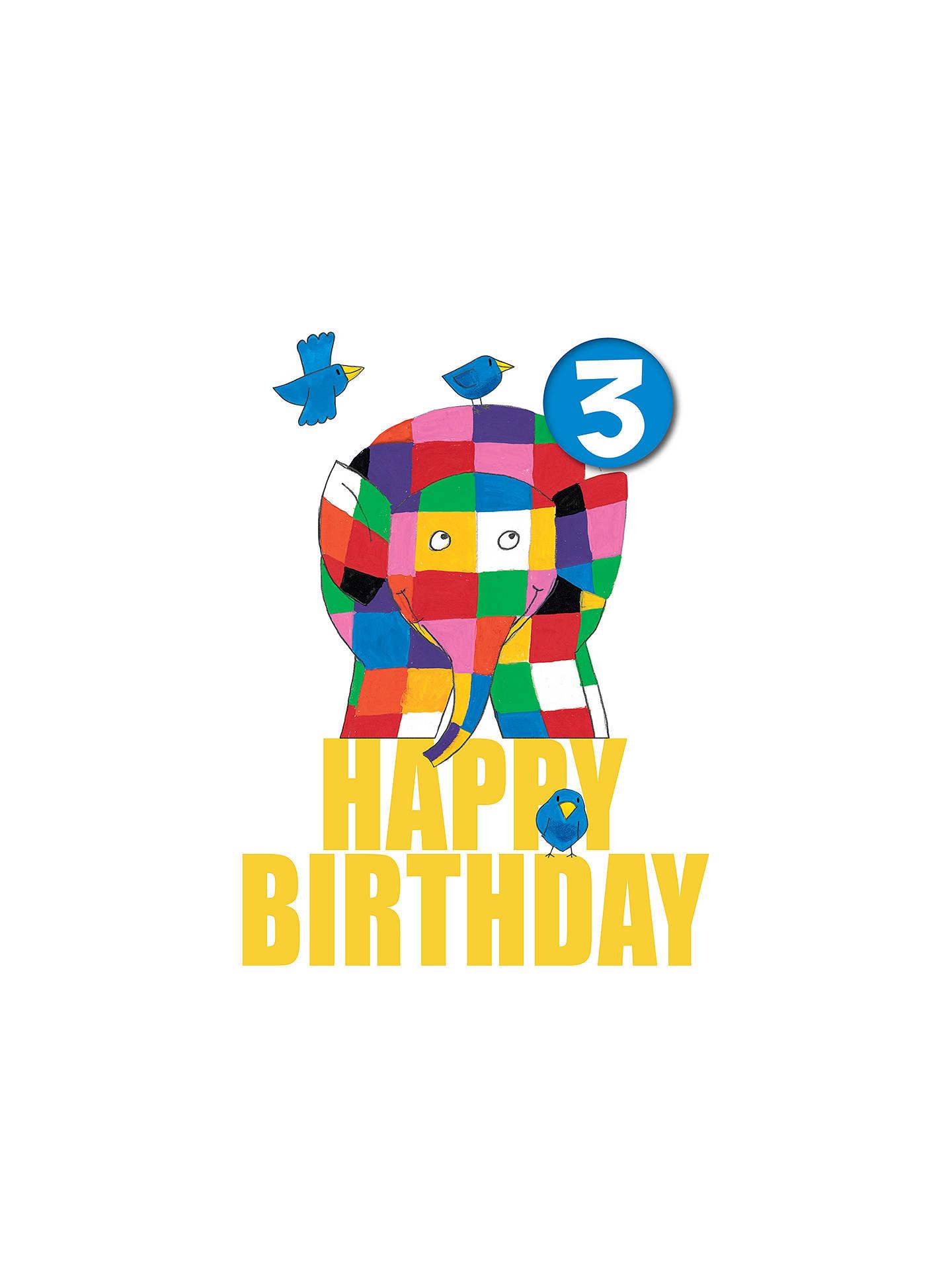 Buy Hype Elmer Badge 3rd Birthday Card Online At Johnlewis