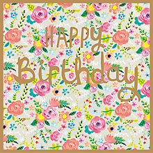 Buy Paper Salad Floral Birthday Card Online at johnlewis.com
