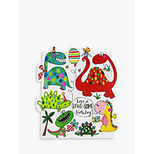 Buy Rachel Ellen Rawr-some Dinosaurs Birthday Card Online at johnlewis.com