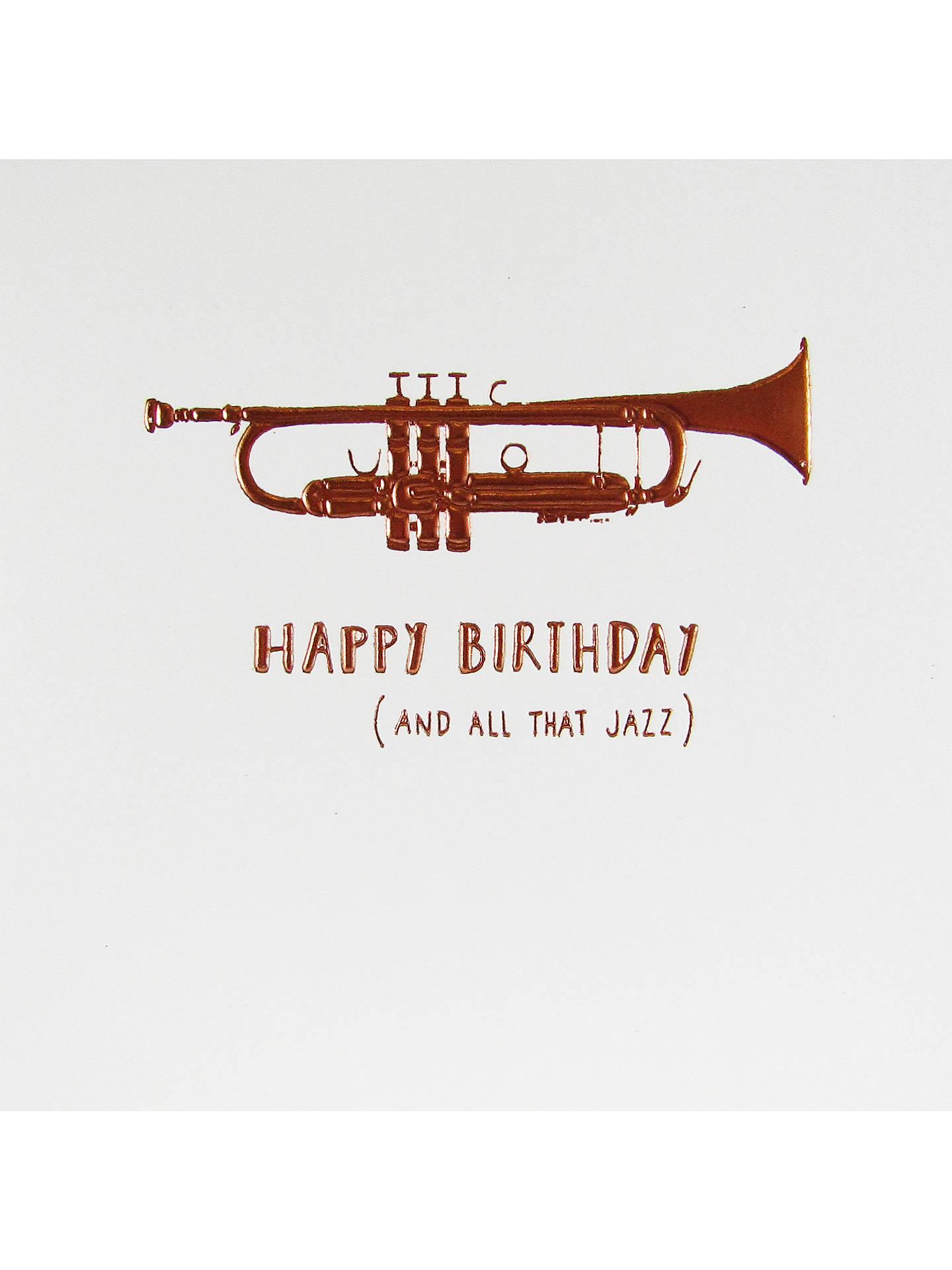 Buy Woodmansterne All That Jazz Birthday Card Online At Johnlewis