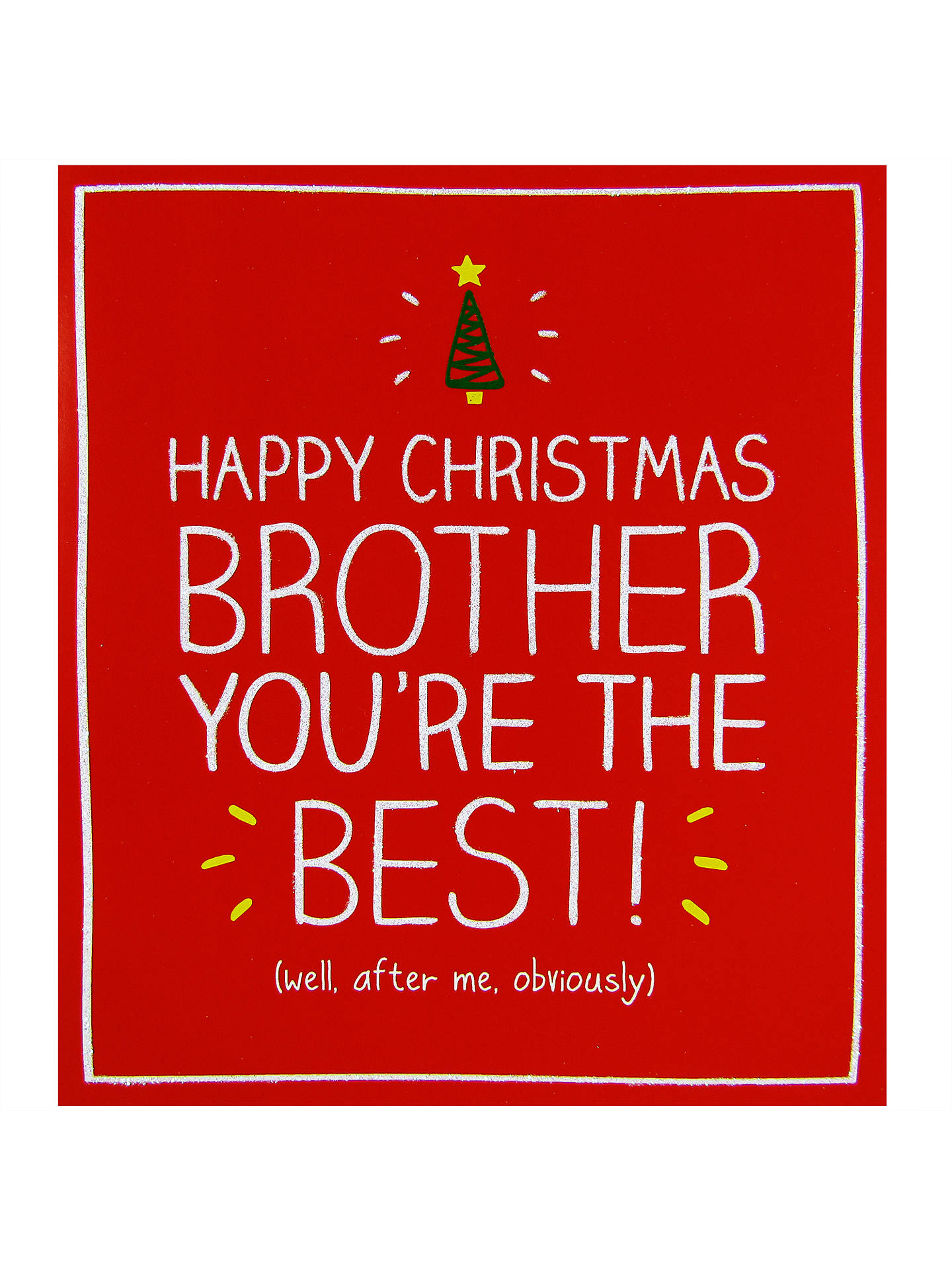 Happy Jackson Brother Youre The Best Christmas Card At John Lewis