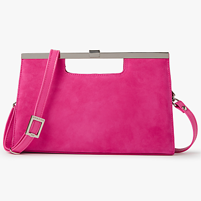 Peter Kaiser Wye Clutch Bag, Berry Suede